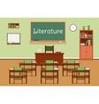 flat of literature classroom vector image