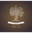 Greece olive tree logo with branches vector image