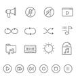 Lines icon set - audio controller vector image
