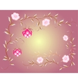 Pattern of beautiful raspberry and pink flowers vector image