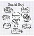 SushiBoy vector image