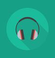 Technology Flat Icon Headphones vector image