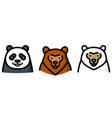 three different bear vector image