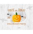 Trick or Treat banner Happy Halloween Poster vector image
