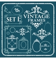 Vintage frames with floral pattern vector image