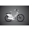 bicycle dark vector image vector image