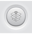 Packing Icon Grey Button Design vector image vector image