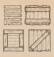 wooden box doodles vector image