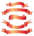 Ombre Red Ribbon vector image