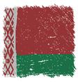 Flag of Belarus handmade square shape vector image
