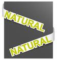sign natural vector image