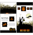 Halloween one page design template vector image