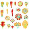 Floral Elements Icon Set vector image