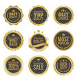 golden metal best choice premium quality badges vector image