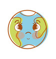 kawaii cute tender earth planet vector image
