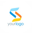 letter s ribbon logo vector image