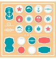 Set of sea and nautical labels badges vector image