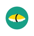 Sushi with oily fish vector image