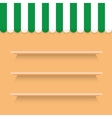 wooden shelves background vector image