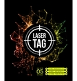 Laser tag with target vector image