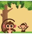jungle monkeys cartoon vector image