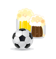 Football and beer vector image vector image