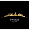 London England city skyline silhouette vector image vector image