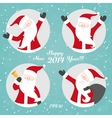 Christmas set with Santa vector image vector image