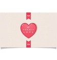 Beautiful red heart with inscription vector image