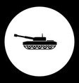 Armored army tank simple black icon eps10 vector image