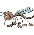 mosquito character cartoon vector image