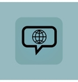 Pale blue globe message icon vector image