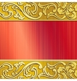 gold and red ornate banner vector image