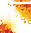 Bright Autumn Backgound vector image
