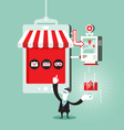 Shopping online concept vector image vector image