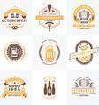 Beer Festival Octoberfest celebrations Set of vector image