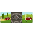 Car speeding and accident vector image