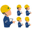 engineer hold writing pad vector image