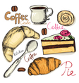 tea and coffee accessories vector image