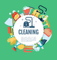 House cleaning poster home services vector image