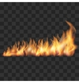 Realistic fire trail vector image vector image
