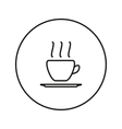Hot coffee line icon vector image