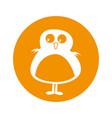 cute bird comic character vector image