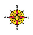 compass rose isolated icon vector image