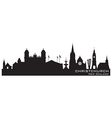 Christchurch New Zealand skyline Detailed silhouet vector image vector image