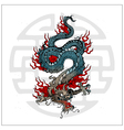 japanese dragon tattoo vector image