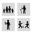 Family design over white background vector image