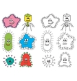 bacteria and virus vector image