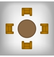 table and chairs top view vector image