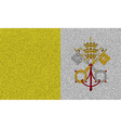 Flags Vatican CityHoly See on denim texture vector image